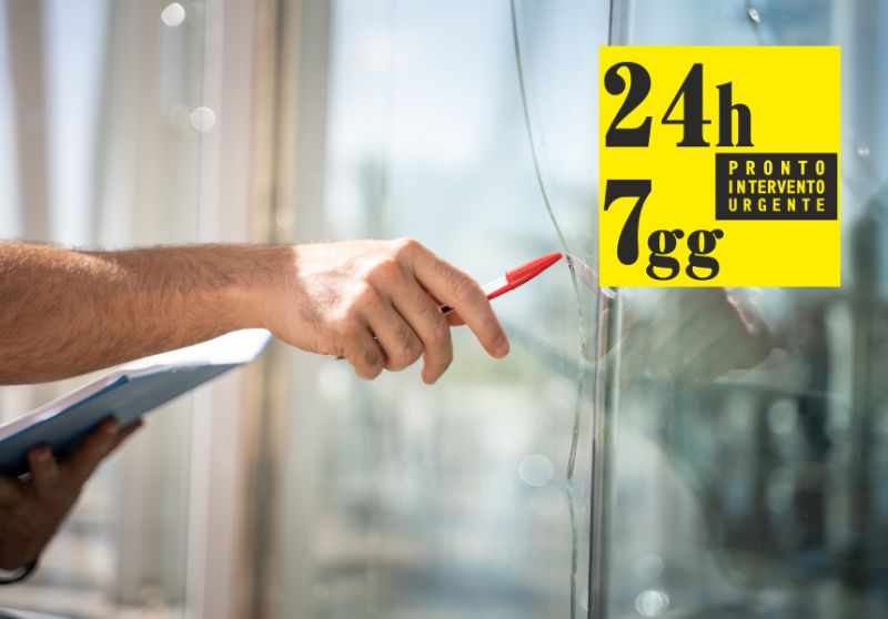 PRONTO INTERVENTO URGENTE 24 ORE offerta sostituzione vetri finestra – posa porte a vetri