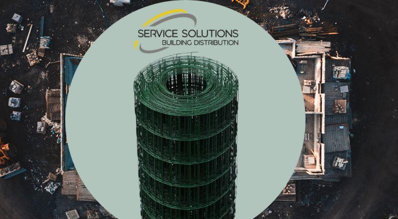 SERVICE SOLUTIONS vendita materiale edile – offerta vendita rete recinzione elettrosaldata plastificata